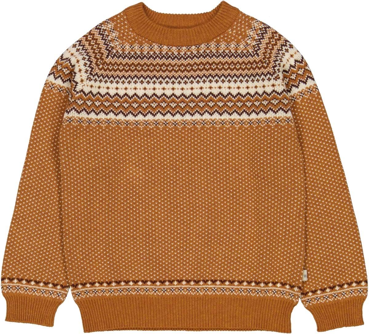 Wheat knit pullover Bennie - cinnamon melange
