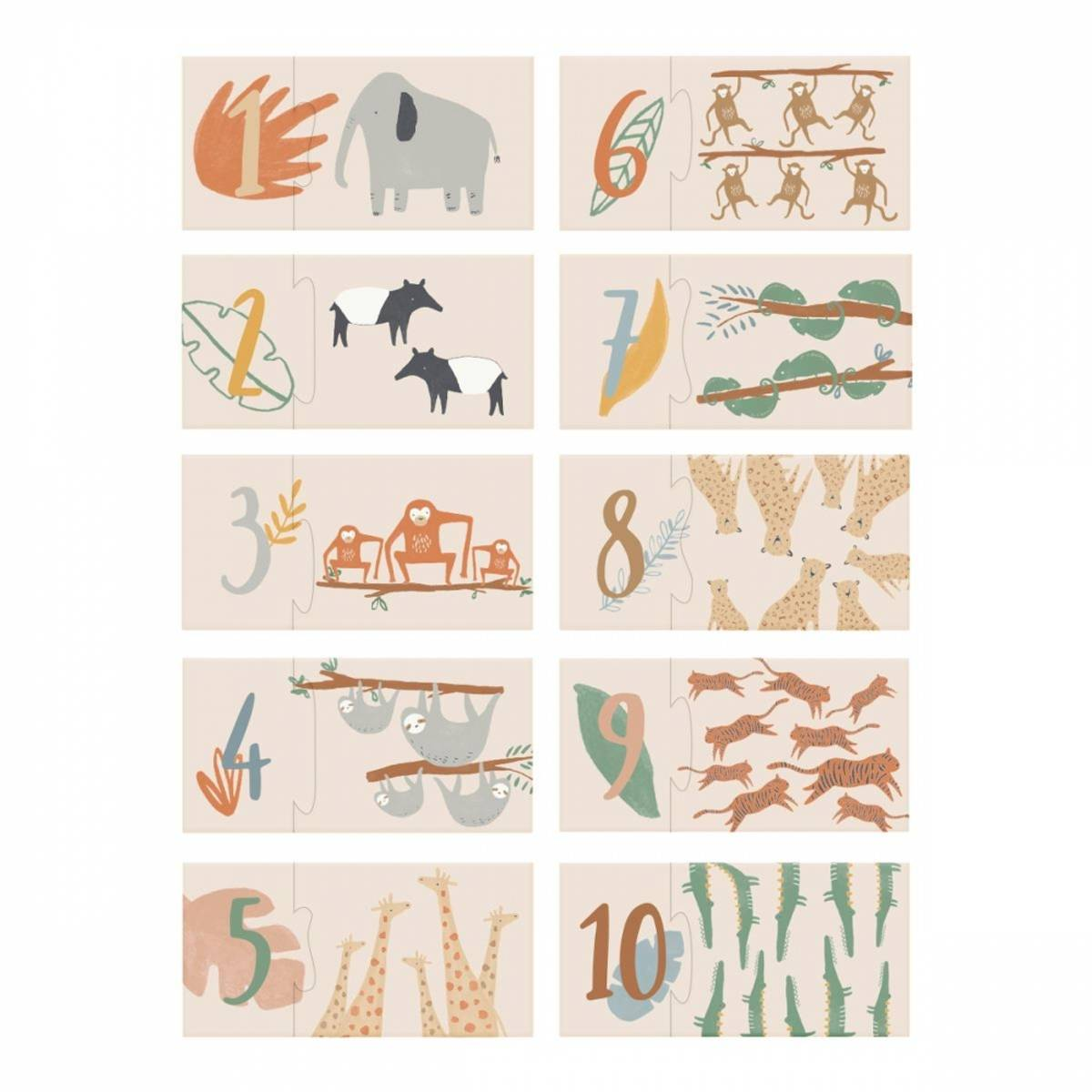 Sebra tellepuslespill 1-10 wildlife