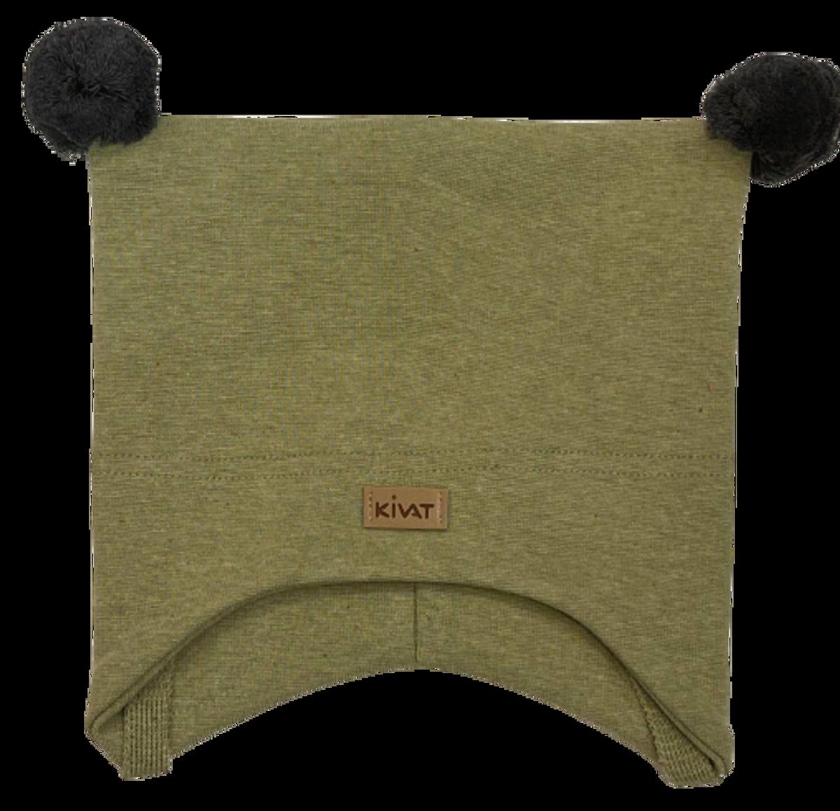 Kivat Logo knytelue m/dusker - grønn/grå