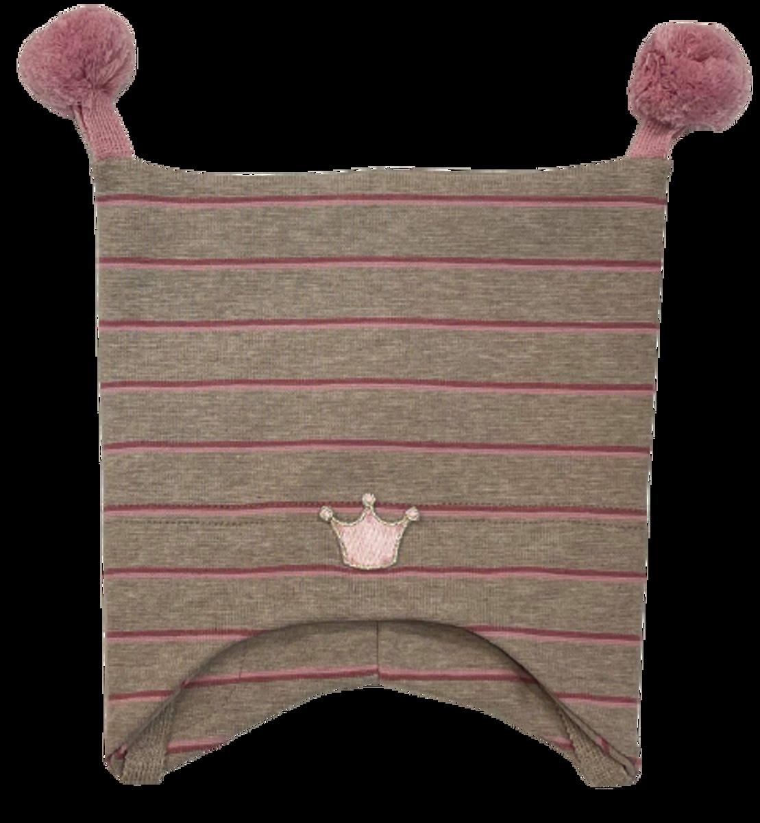 Kivat Krone knytelue m/dusker - beige striper