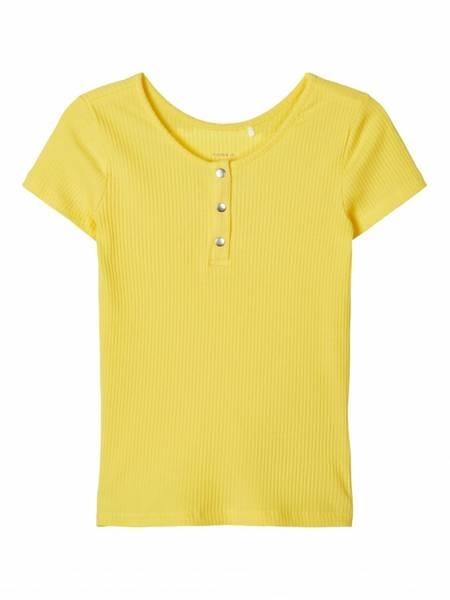 Bilde av Name It Flouri t-skjorte - aspen gold
