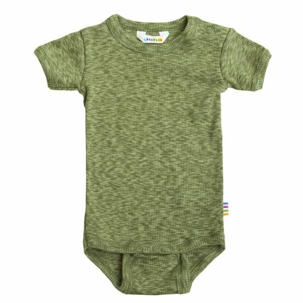 Bilde av Joha cotton melange kort ermet body - grønn