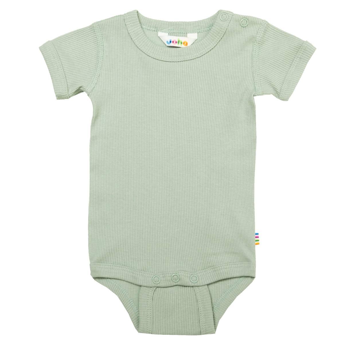 Joha Cotton Rib kortermet body - lys grønn