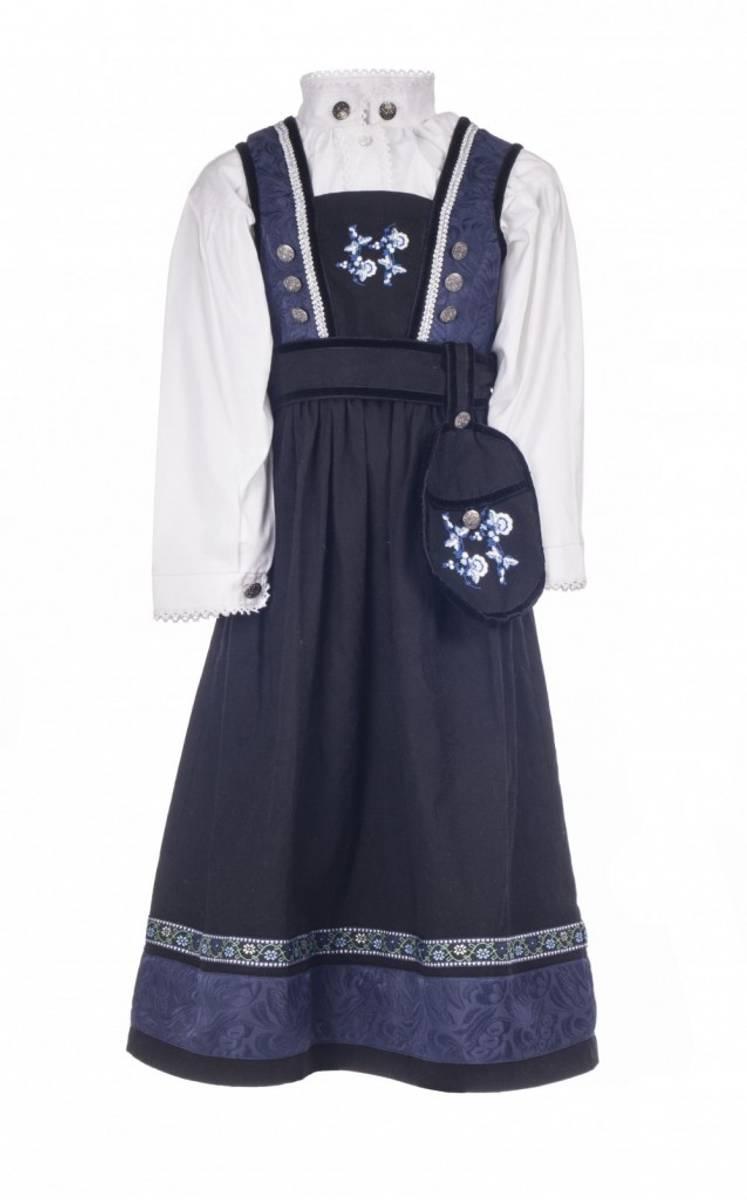 Salto Festdrakt/bunad jente - blå